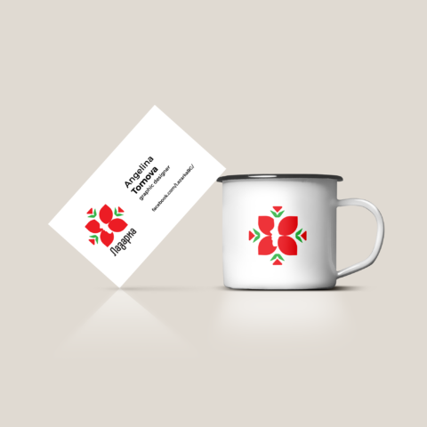lazarka mug and business card branding